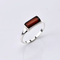 Amber Ring, Amber stone Ring, Cherry Amber Ring, Natural Amber Ring,