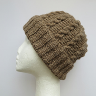 Hat Knitting Kit with 100grms Shetland DK natural wool