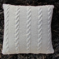Cushion Cover DK Knitting kit Rare Breed Wool Cable and Moss Stitch design