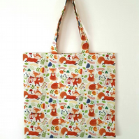 Fox Reusable Fabric Shopping Tote Bag