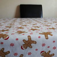 Christmas Gingerbread Washable Reusable Tablecloth