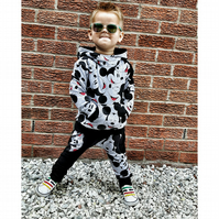 Baby boy Mickey mouse trousers and sweatshirt set, baby outfit, harem pants
