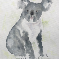 Koala Original Watercolour Painting
