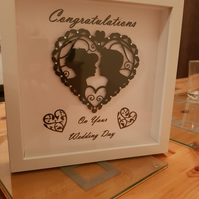 Unique Silhouette Wedding gift, Can be personalised