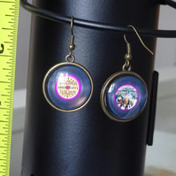 Double Sided Music Record Earrings