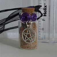 Protection - Medium Fairy Spell Bottle -  Pentagram