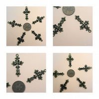 5 x Antique Bronze Cross