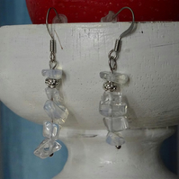 Pair of Opalite Chip & Bead Earrings
