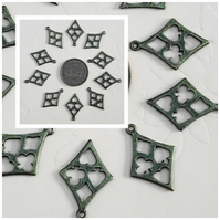 10 x Playing Card Symbol Charms