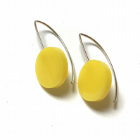 Wee Circle Earrings - Yellow