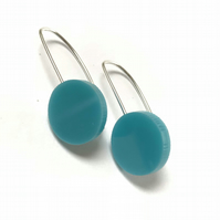 Wee Circle Earrings - Turquoise