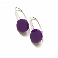 Wee Circle Earrings - Purple