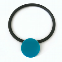 Big Turquoise Circle Pendant and Choker