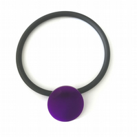 Big Violet Circle Pendant and Choker