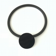 Big Black Circle Pendant and Choker