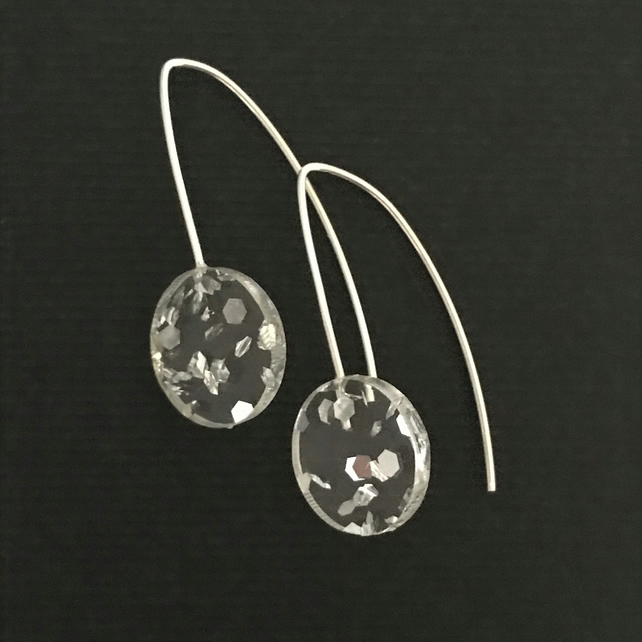 Wee Silver Foil Earrings