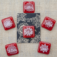 Red Motivational Positive Thinking Glass Enamel Pin Badge