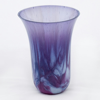 Purple Marbled Decorative Kiln Formed Drop Vase