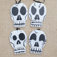 Human Skull Fused Glass Halloween Decorations