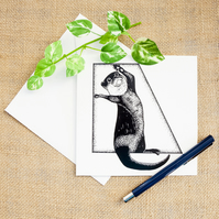 Adorable and Funny Otter Greetings Card Otter Gift Birthday Card