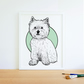 West Highland Terrier Westie illustration art print picture dog wall art