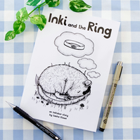 'Inki and the Ring' Illustrated Children's Storybook Kid's Book Inktober Story