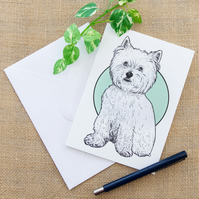 West Highland Terrier Westie Dog Greetings Birthday Card