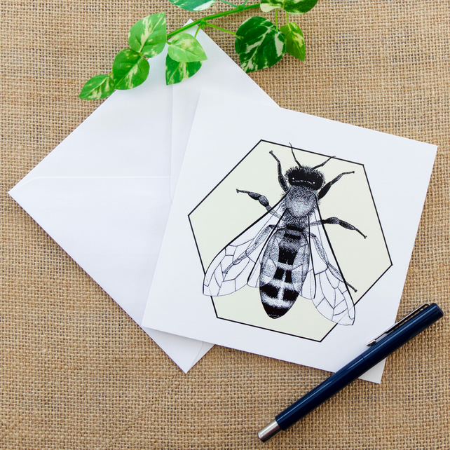 Honey Bee Greetings Card Birthday Card for Bee Keepers