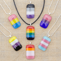 LGBTQ Pride Fused Glass Necklaces Pendants