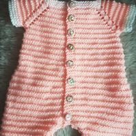 Pretty peach onesie 0-3 months
