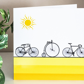Bicycle Blank Greetings Card 6 inch square cycling card for cyclist enthusiast