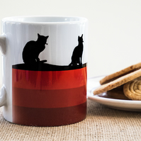 Red Cat Lovers Coffee Mug Kittens Pussies Kitty Pet Animal Lover Pets Animals