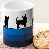 Blue Dog Breeds Coffee Mug Gift for Lover Owner Dachshund Westie Terrier Poodle
