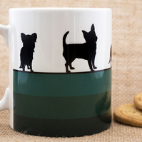 Green Dog Breed Coffee Mug Gift for Lover Owner Dachshund Westie Terrier Poodle