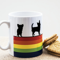 Rainbow Dog Breed Coffee Mug Lover Owner Dachshund Westie Terrier Poodle LGBT