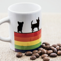 Dog Espresso Coffee Mug Rainbow Lover Owner Dachshund Westie Terrier Poodle LGBT