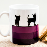 Purple Dog Breed Coffee Mug Gift for Lover Owner Dachshund Westie Terrier Poodle