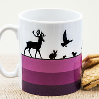 Woodland Animals Coffee Mug for Nature and Countryside Lovers