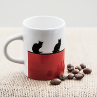 Red Cat Lovers Espresso Coffee Mug Kittens Kitty Pet Animal Lover Pets Animals