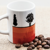 Trees Espresso Coffee Mug Gift for Nature Countryside Tree Lover Hugger Woods
