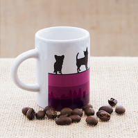 Purple Dog Espresso Coffee Mug Lover Owner Dachshund Westie Terrier Poodle