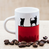 Red Dog Espresso Coffee Mug Lover Owner Dachshund Westie Terrier Poodle