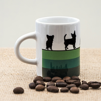 Green Dog Espresso Coffee Mug Lover Owner Dachshund Westie Terrier Poodle