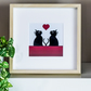 Cats Cat Lovers Gift Framed Print Graphic Modern Picture Wall Art Illustration