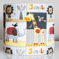 20cm round table lamp or ceiling lampshade jungle animals child's nursery