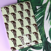 Okapi A5 Lined Notebook - Animal Gift - Stationery - Unusual Animal