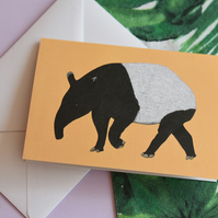 Tapir Greetings Card - Birthday - New Home - Blank for any occasion