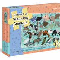Alphabet of amazing animals puzzle