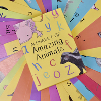 Alphabet of amazing animals card set