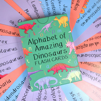 Alphabet of Amazing Dinosaur Flash Cards